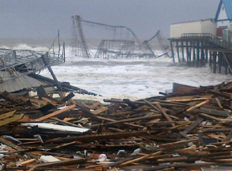 Damage caused by Hurricane Sandy at Union Beach