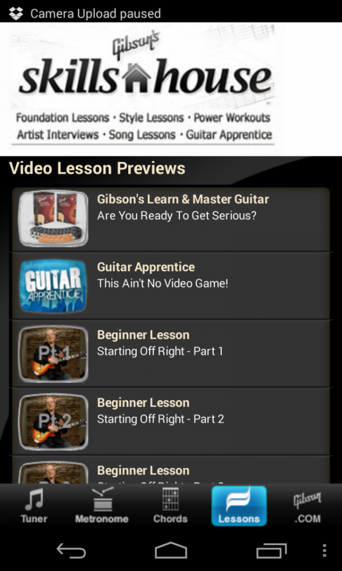 Gibson Guitar Lessons for Android
