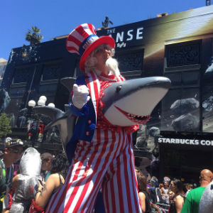 Uncle Sam With Shark