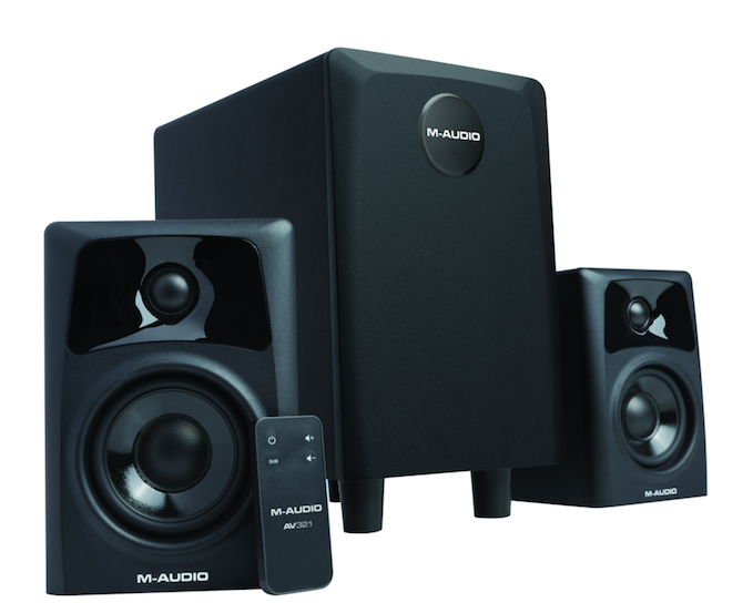 The Compact AV32.1 Powered 3-Piece System From M-Audio