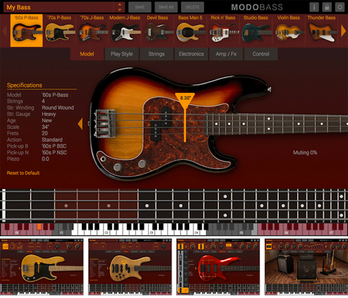 The 1st Physically Modeled Electric Bass Virtual Instrument