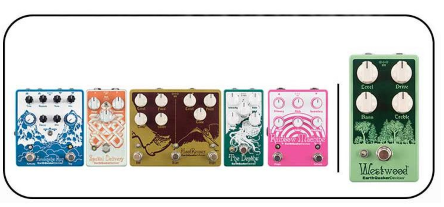 NAMM 2018: EarthQuaker Devices introduces Westwood Translucent Drive Manipulator and 5 V2 pedals