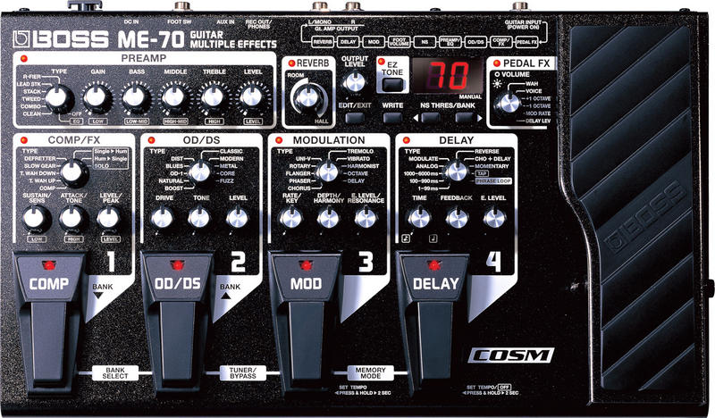 BOSS ME-70 Guitar Multi-Effects Now Available