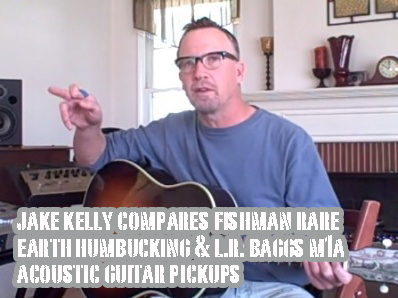 Fishman Rare Earth Humbucking and L.R. Baggs M1a Acoustic Guitar Pickups
