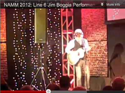 Jim Boggia Performs for Line 6 StageSource