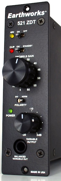 Now Available: Earthworks 521 ZDT Preamps