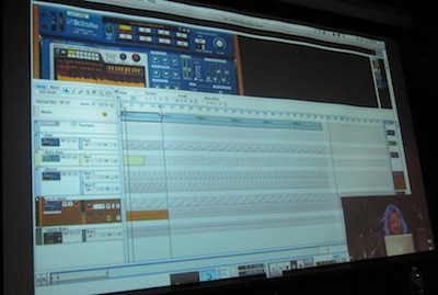 Matt Pipper Projection Screen at Propellerhead Producer's Conference 2012