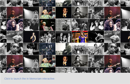 NPRs interactive tribute to passing greats 2012